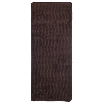 Barrientos Memory Foam Extra Long Bath Mat Color: Chocolate