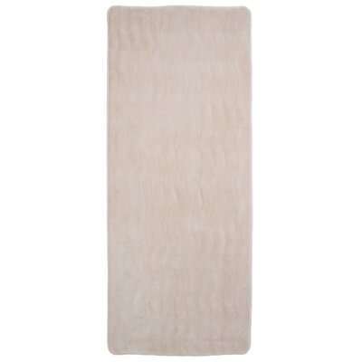 Barrientos Memory Foam Extra Long Bath Mat Color: Ivory
