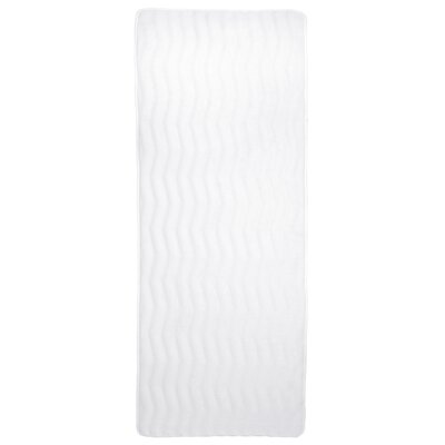 Barrientos Memory Foam Extra Long Bath Mat Color: White