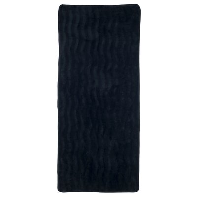 Barrientos Memory Foam Extra Long Bath Mat Color: Black