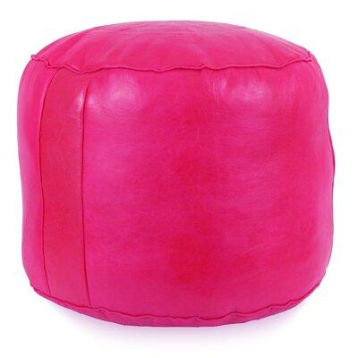 Neasa�Fez Leather Pouf Upholstery: Fuchsia