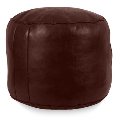 Neasa�Fez Leather Pouf Upholstery: Chocolate