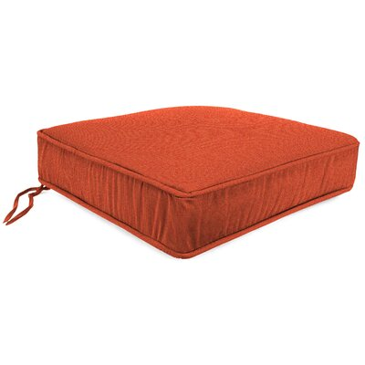 Plain Outdoor Sunbrella Lounge Chair Cushion Fabric: Echo Sangria