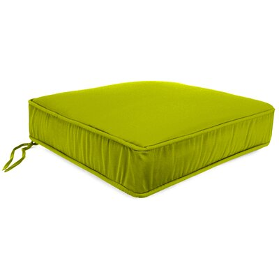 Plain Outdoor Sunbrella Lounge Chair Cushion Fabric: Echo Limelight