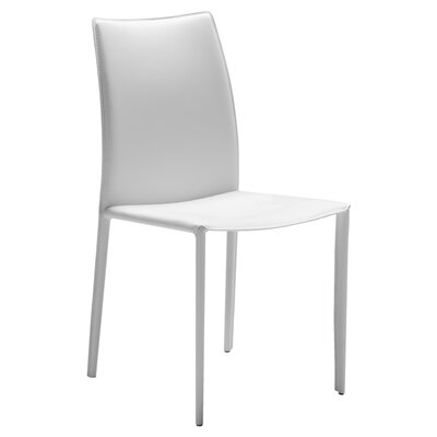 Branco Side Chair (Set of 2) Upholstery: White