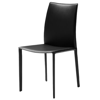 Branco Side Chair (Set of 2) Upholstery: Black