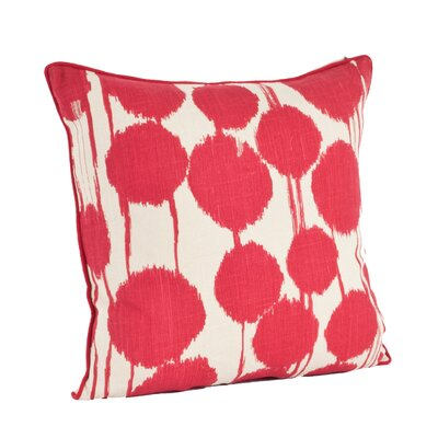 Agee 100% Cotton Throw Pillow Color: Red