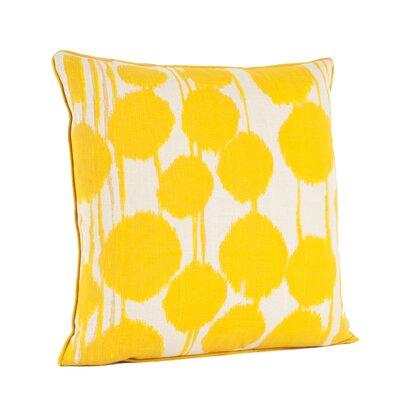 Agee Inkblot Design Cotton Throw Pillow Color: Saffron