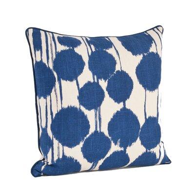 Agee Inkblot Design Cotton Throw Pillow Color: Indigo