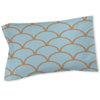 Brendan Sham Size: Queen/King, Color: Blue / Orange