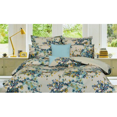 Chiron 5 Piece Reversiblel Duvet Cover Set Size: King