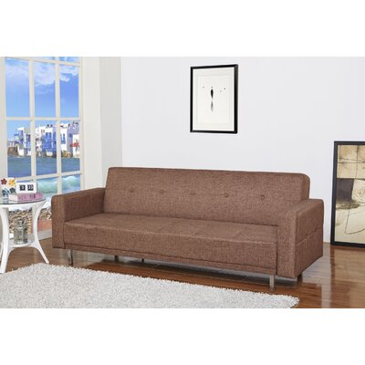 Armas Sleeper Sofa Upholstery: Brown Ceramic
