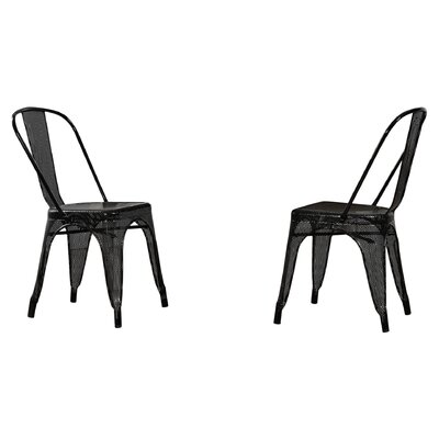 Uriarte Side Chair Finish: Black