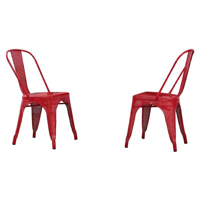 Uriarte Side Chair Finish: Red