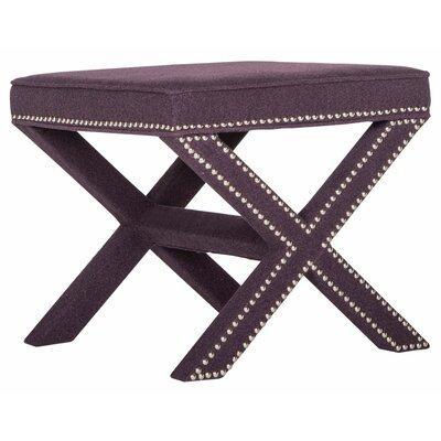 Leia Ottoman Upholstery: Plum