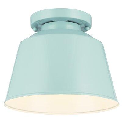 Wally 1-Light Semi Flush Mount Finish: Hi Gloss Blue