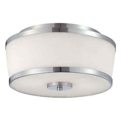 Camacho 2-Light Flush Mount Finish: Satin Nickel