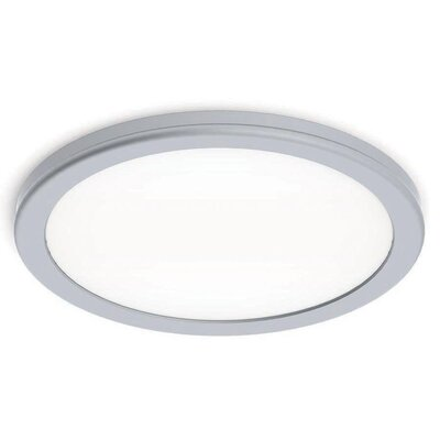 Stanwyck 1-Light Flush Mount Finish: Titanium, Bulb Color Temperature: 3000K, Size: 0.88 H x 10 W x 10 D