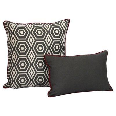 Magna Decorative Cotton Throw Cushion Size: 20 H x 20 W x 3.5 D, Color: Gray