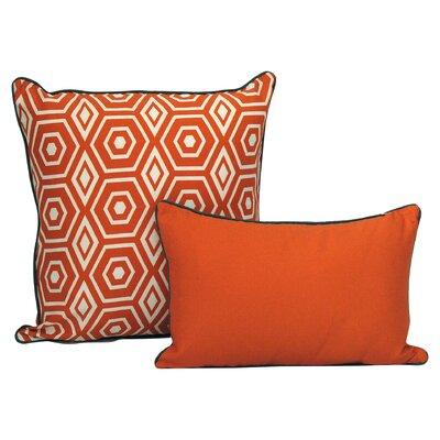 Magna Decorative Cotton Throw Cushion Size: 20 H x 20 W x 3.5 D, Color: Tangerine