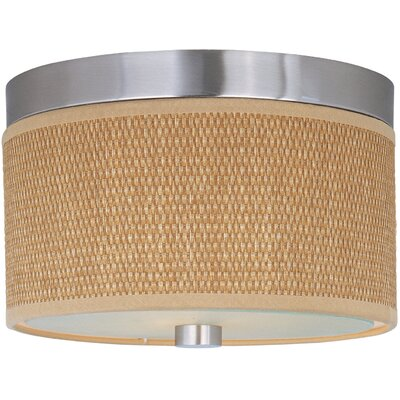 Dionysius 2-Light Flush Mount Finish / Size / Shade Material: Satin Nickel / 20 / Grass Cloth