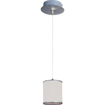 Denning 1-Light Cylindrical Shade Mini Pendant Shade Color: White Pleat, Size: 7 H