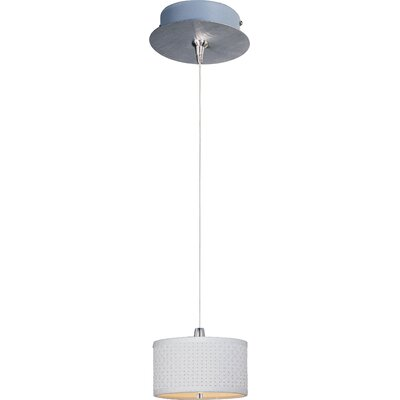 Denning 1-Light Cylindrical Shade Mini Pendant Shade Color: White Weave, Size: 3.75 H