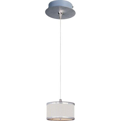 Denning 1-Light Cylindrical Shade Mini Pendant Shade Color: White Pleat, Size: 3.75 H