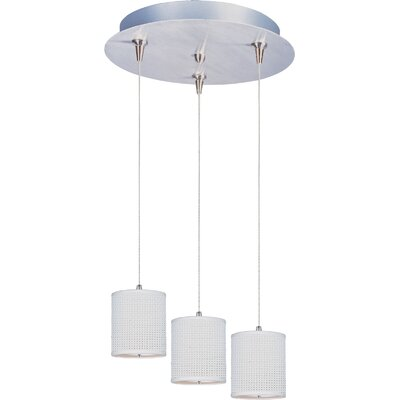 Denning 3-Light Cylindrical Shade Kitchen Island Pendant Shade Color: White Weave, Size: 7 H
