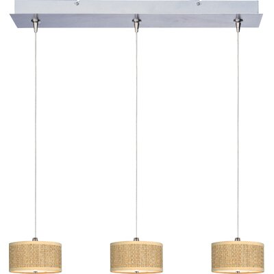 Dionysius 3-Light Kitchen Island Pendant Shade Color: Grass Cloth