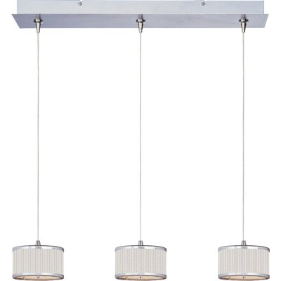 Denning 3-Light Drum Shade Kitchen Island Pendant Shade Color: White Pleat