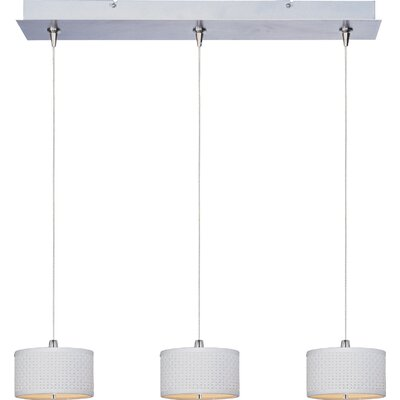 Denning 3-Light Drum Shade Kitchen Island Pendant Shade Color: White Weave