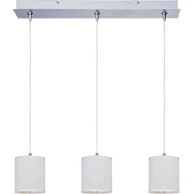 Denning 3-Light Kitchen Island Pendant Shade Color: White Weave