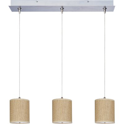 Denning 3-Light Kitchen Island Pendant Shade Color: Grass Cloth
