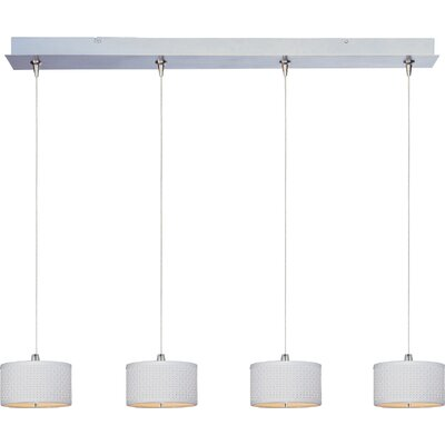 Denning 4-Light Drum Shade Kitchen Island Pendant Shade Color: White Weave