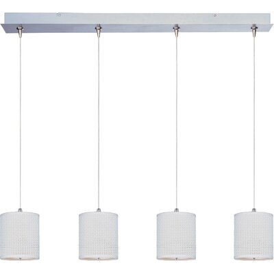 Denning 4-Light Kitchen Island Pendant Shade Color: White Weave