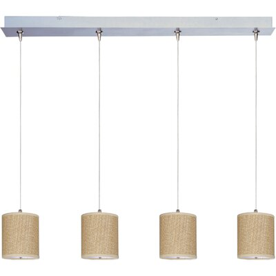 Dionysius 4-Light Kitchen Island Pendant Shade Color: Grass Cloth