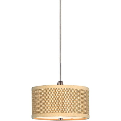 Denning 1-Light Fabric Shade Drum Pendant Size: 7 H x 6.75 W x 6.75 D