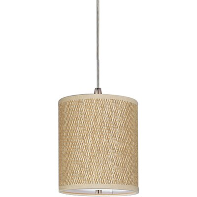 Denning 1-Light Fabric Shade Drum Pendant Size: 5.5 H x 6.5 W x 6.5 D