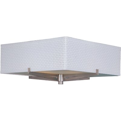 Denning 3-Light Flush Mount Color: Satin Nickel