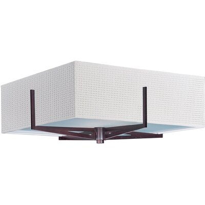 Denning 3-Light Flush Mount Finish: Oil Rubbed Bronze