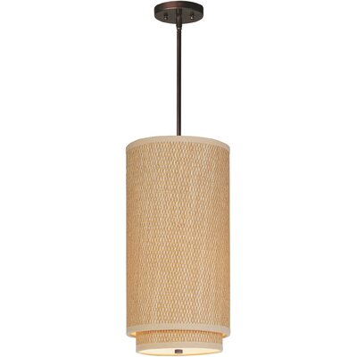 Denning 1-Light Mini Pendant Color: Oil Rubbed Bronze, Glass Color: White Lava