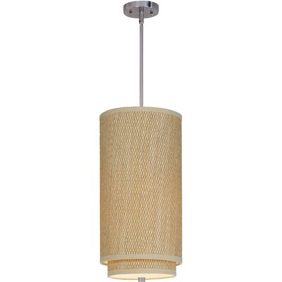 Denning 1-Light Mini Pendant Finish: Satin Nickel, Glass Color: White Lava