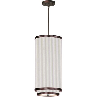Dionysius 1-Light Mini Pendant Finish: Oil Rubbed Bronze, Glass Color: White Weave