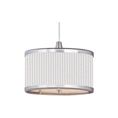 Denning 1-Light Drum Pendant Size: 5.5 H x 6.5 W x 6.5 D