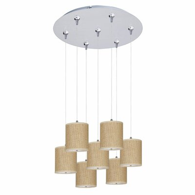 Denning 7-Light Cascade Pendant Shade Color: Beige