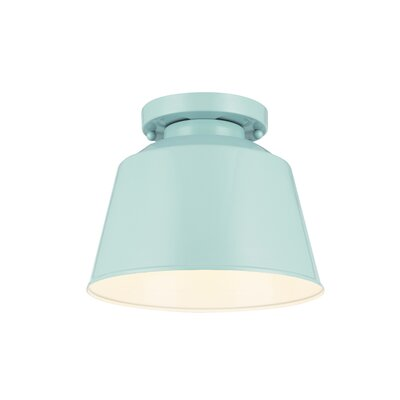 Sarah Modern 1-Light Semi Flush Mount Finish: Hi Gloss Blue