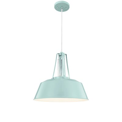 Sarah 1-Light Bowl Shade Mini Pendant Finish: Hi Gloss Blue