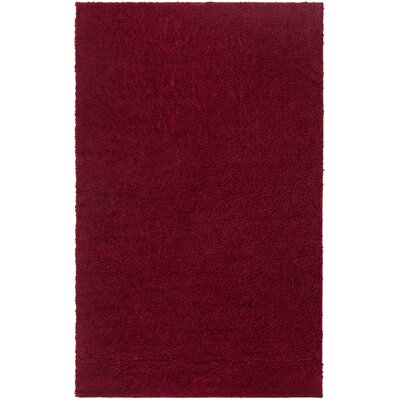 Damien Dark Red Area�Rug Rug Size: 3 x 5