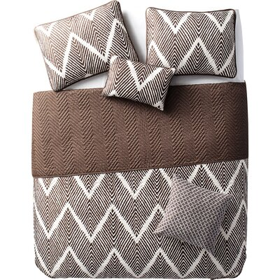 Kegley 5 Piece Quilt Set Color: Chocolate, Size: Full / Queen
